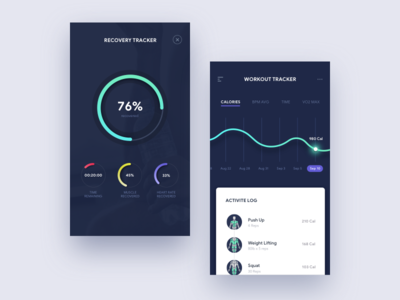Daily UI - 041 Workout Tracker ux ui interaction graph design challenge mobile design analytics app workout tracker workout dailyui daily ui