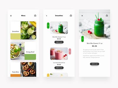 Daily UI - 043 Food/Drink Menu food menu shopping drink menu app interface ui ux menu daily ui dailyui
