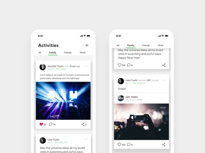 Daily Ui - 047 Activity Feeds ux ui interaction activities design challenge web design timeline activity feeds social media dailyui daily ui