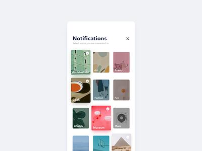 Daily UI-049 Notification customization ux ui interaction app design challenge cards grid notification dailyui daily ui