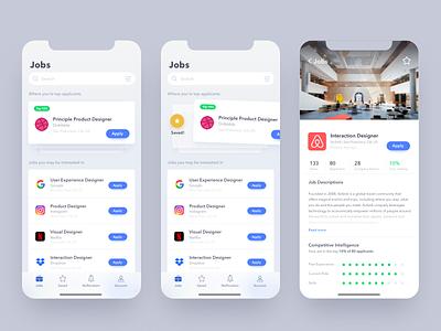 Daily UI - 050 Job List ux ui interaction app job posting design challenge job board job list job dailyui daily ui