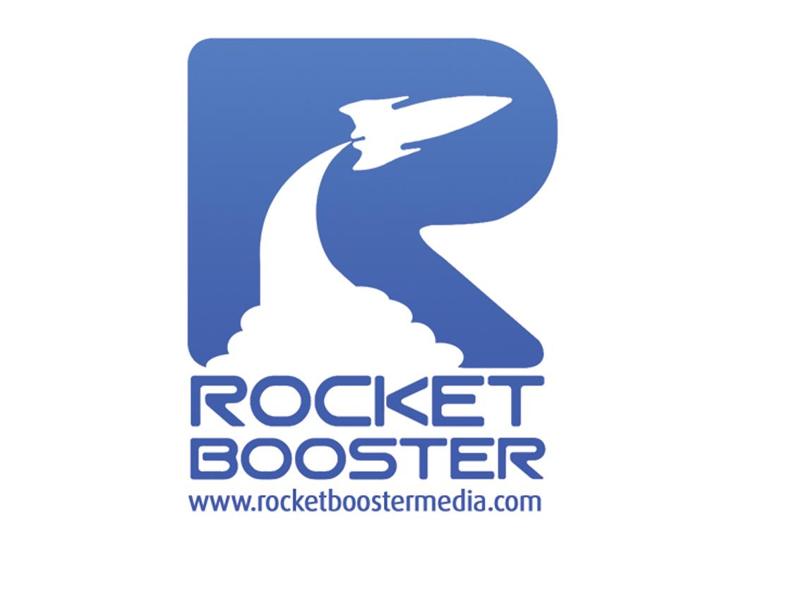Rocket Booster Media Logo vector typography website branding web logo design