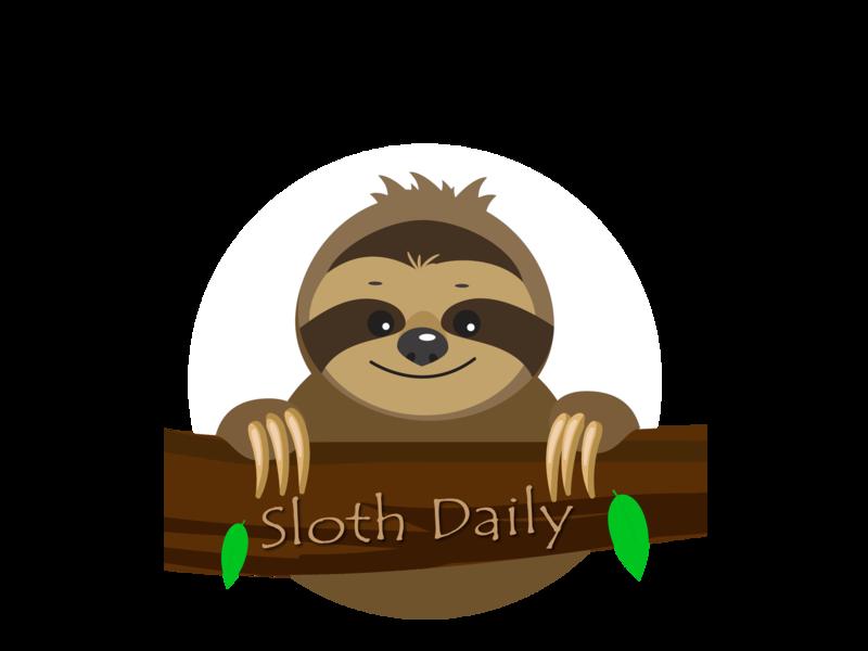 Sloth Daily Logo icon illustration vector design logo branding