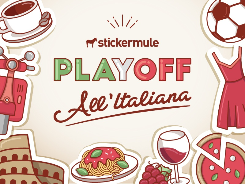 Playoff! All'Italiana Sticker Design Contest italia italy sticker mule contest playoff rebound stickers
