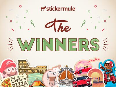 The Winners! All'Italiana Playoff winners italia italy sticker mule contest playoff rebound stickers