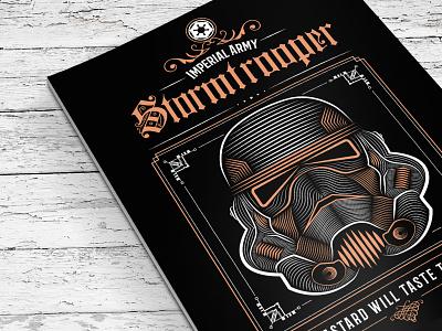 Star Wars Stormtrooper Poster print illustration drawing typography vector poster star wars