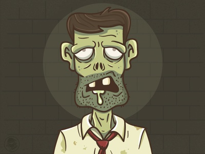 Zombieeee! wall brush vector drawing illustration zombie