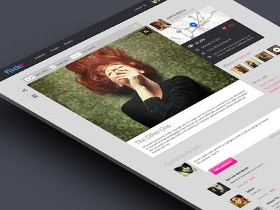 Flickr - Photo detail flickr redesign web concept photo detail