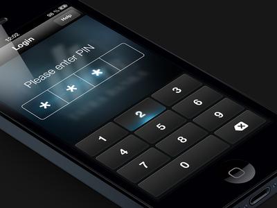 Enter PIN pin code keyboard numpad iphone password jjabrams glow buttons