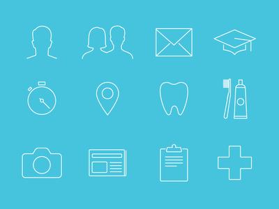 Dental icon set dental icons medical iphone app
