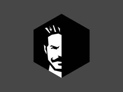 Gentlemen's Gift Box Club hipster mustache logo box vector gentleman
