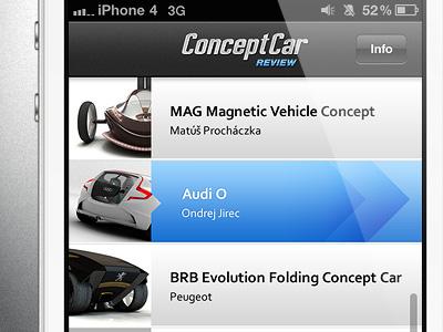 CCR app / listing iphone app listing cars