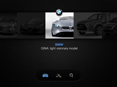 CCR car listing car app bmw ipad