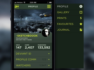 deviantART concept / profile