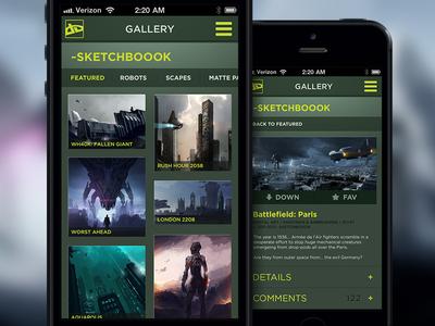 deviantART concept / gallery deviant art deviantart app application mobile iphone android fan concept gallery