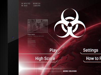 Plague Inc. / UI upgrade plague inc ipad game strategy ui biohazard ndemic creative interface