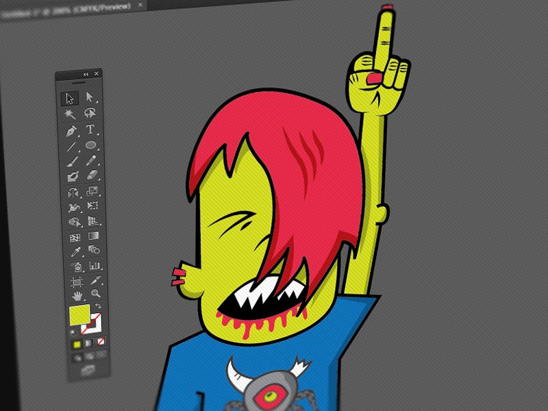 Gig poster rock hard band fucker gig poster red hair monster