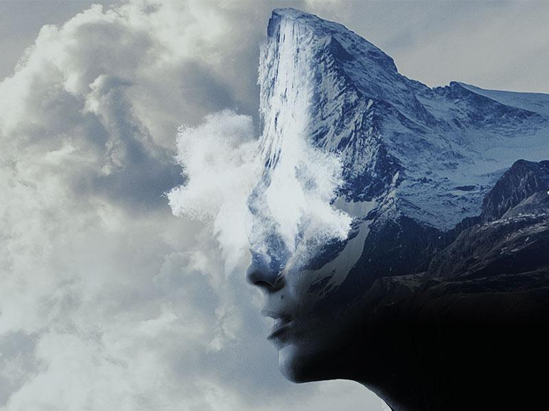 Avalanche face avalanche mountain photoshop photo manipulation
