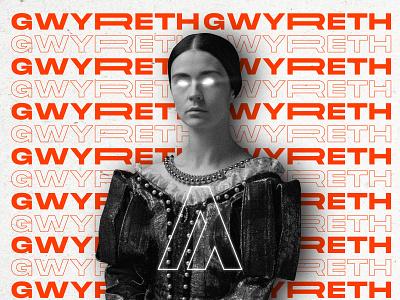 Madame Gwyreth glow digital art art poster illustration design typogaphy character vintage retro