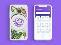 Vegan Recipes UI Design