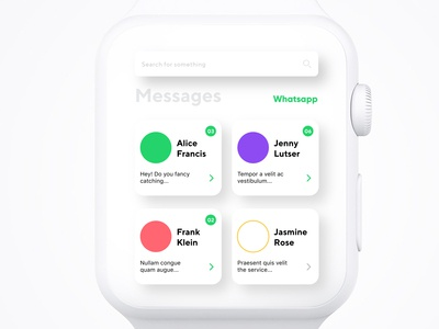 Whatsapp / Apple Watch UI