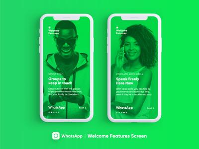 Whatsapp Features Screen