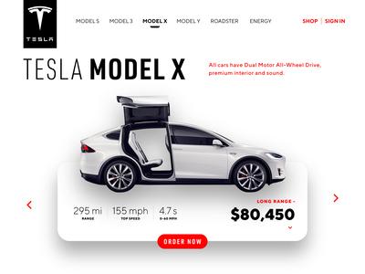 Tesla / Model X - Order Page