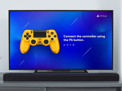 PS4 / Redesign sony tv app blue dualshock game design console playstation 4 playstation ps4 game