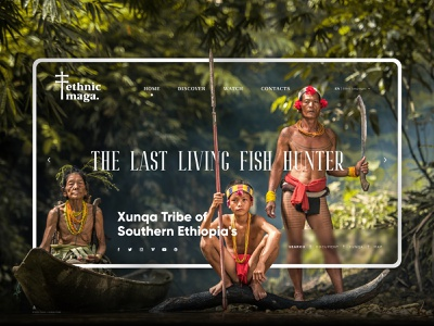 Ethnic Maga - Xunqa Tribe / Landing Page logo color green nature culture ux design jungle tribe ethnic adobe xd landing page web ux uidesign ui design