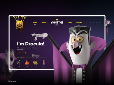 Who is this hero - Dracula / Landing Page