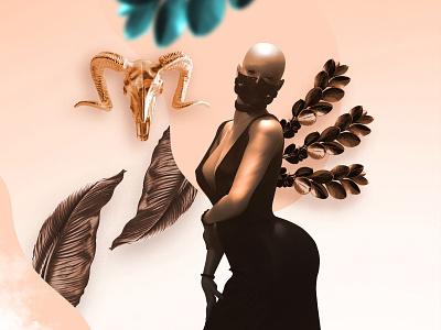 Murderous / Dark Bronze Edition fitness bar death web ui sexy women leaf color art digital 3d art illustration design