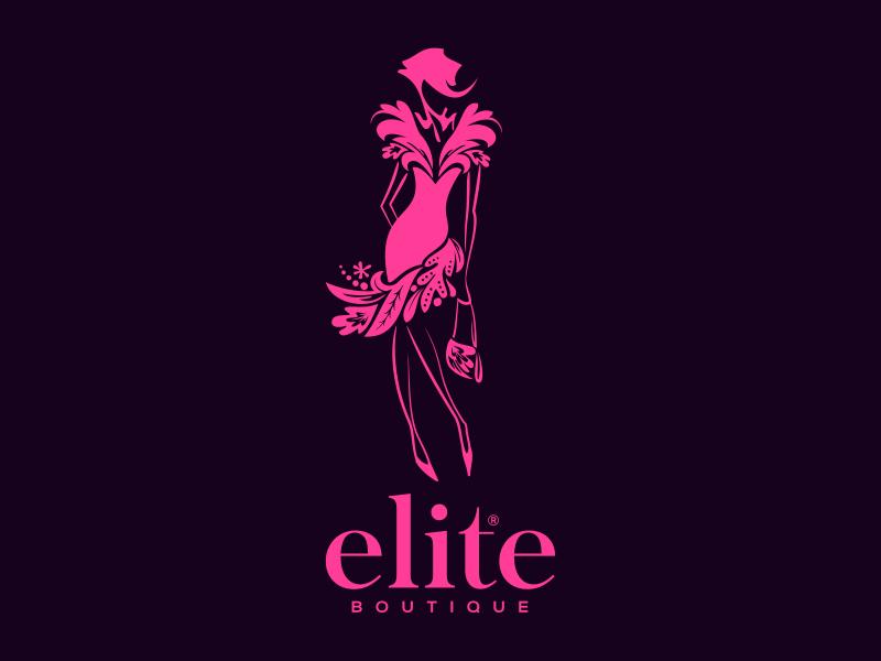 Elite boutique logo boutique elite girl woman fashion