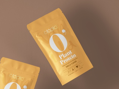 Vanilla flavoured protein isolate pouch design pouch packaging design superfood packaging hemp protein powder protein vanilla