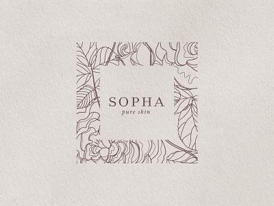 Sopha skincare logo design elegant natural skincare skin organic brand identity brand design branding logo design logotype logo