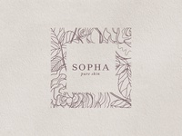 Sopha skincare logo design