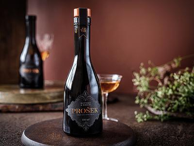 Prosecco packaging design copper foil elegant vintage premium graphic design print packaging branding prosecco