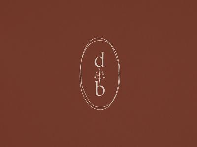 Submark for a holistic herbal skincare holistic desert organic brand identity logo design branding logo submark