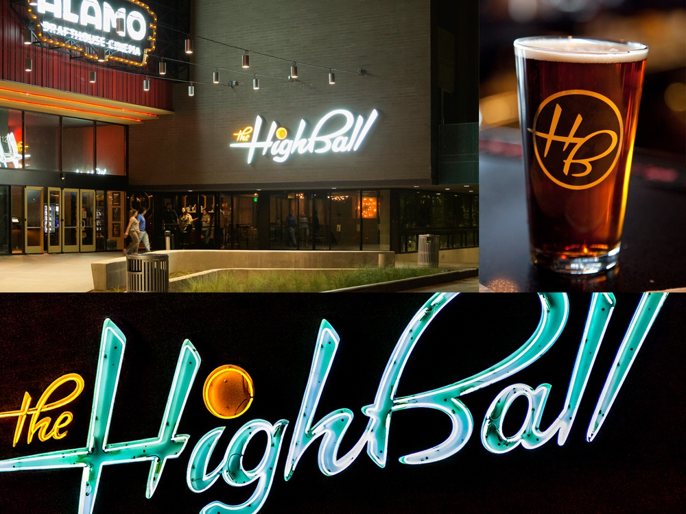 The Highball logo - usage examples type icon illustration merchandise neon signage lettering typography logo design branding