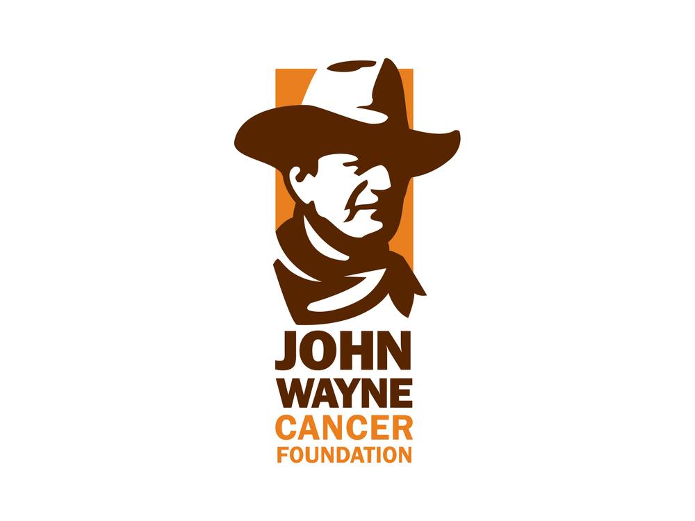 John Wayne Cancer Foundation logo illustration logo icon design branding