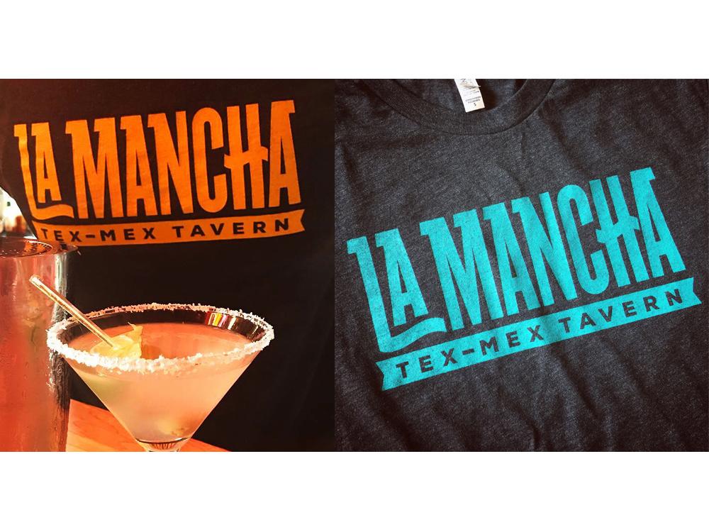 La Mancha Shirts merchandise illustration type lettering typography logo design branding