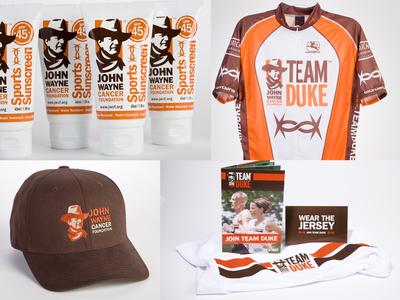John Wayne Cancer Foundation & Team Duke brand applications