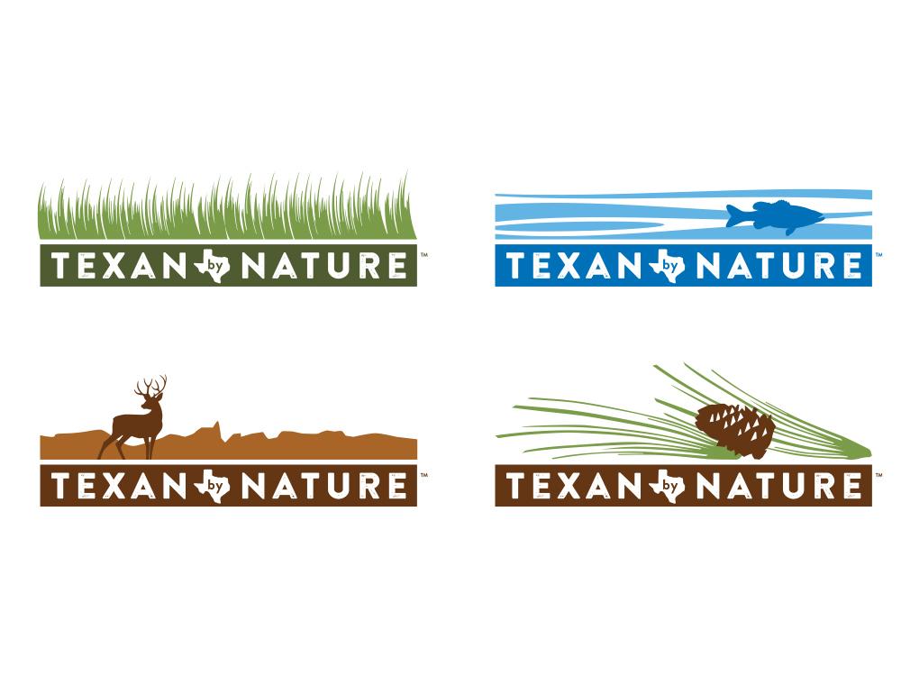 Texan by Nature logos icon illustration design logo branding