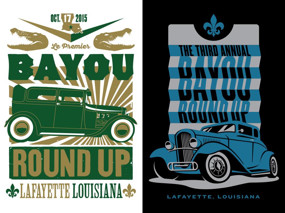 Bayou Round Up illustrations merchandise design typography print design illustration branding design