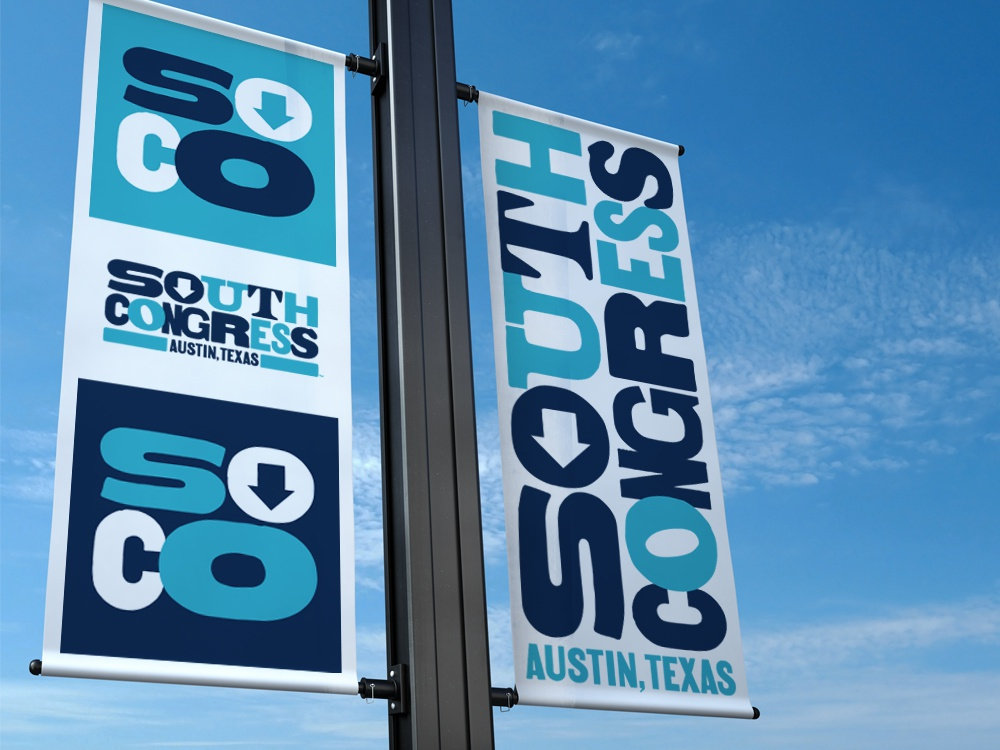 South Congress brand environmental design signage type lettering logo branding design