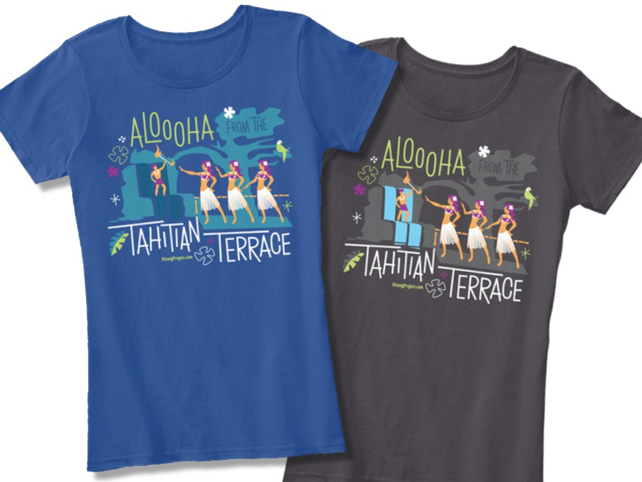 Tahitian Terrace colorways merch design illustration design