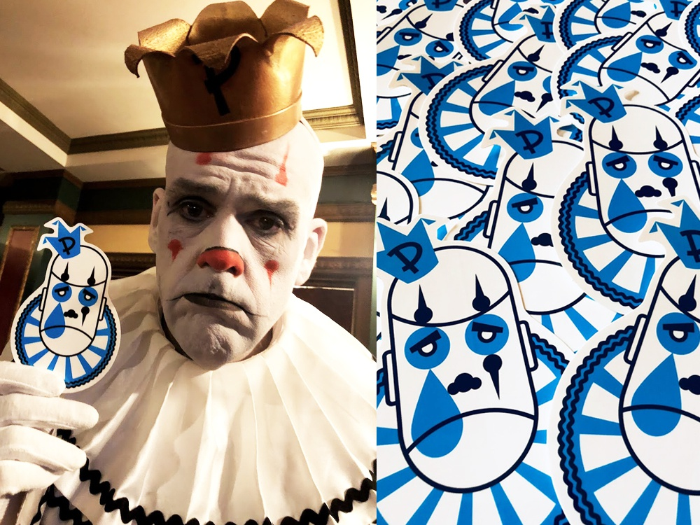 Puddles Pity Party merchandise icon branding illustration design