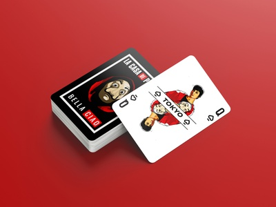 La Casa De Papel Playing Cards playingcards tokyo tokio lacasadepapel design character illustration mangoline