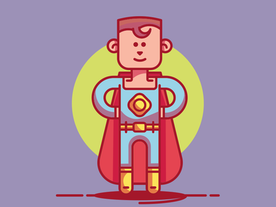 Superboy illustration character powers manga boy hero super