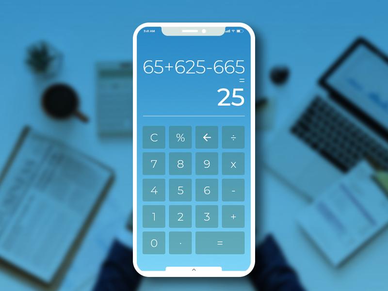 Calculator Daily UI #004 app app apps application calculator app daily 100 challenge ux challenge ui  ux design uichallenge ui 100 ux design ux  ui mangoline iphonex uichallange ux ui  ux ui calculator