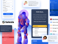 UI Components V1.0 - Salesla colors grid amazon mobile gradient graphic design character art minimal website flat web icon typography ux vector branding ui design dashboard